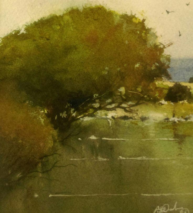 """Waterhole"" by Brian Dickinson. Paintings for Sale. Bluethumb - Online Art Gallery"