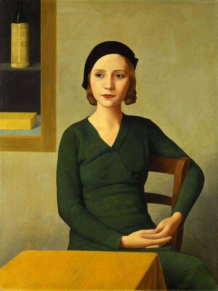 Good morning, dear Tweeps__Donna al caffè 1932__Antonio Donghi __Ca' Pesaro