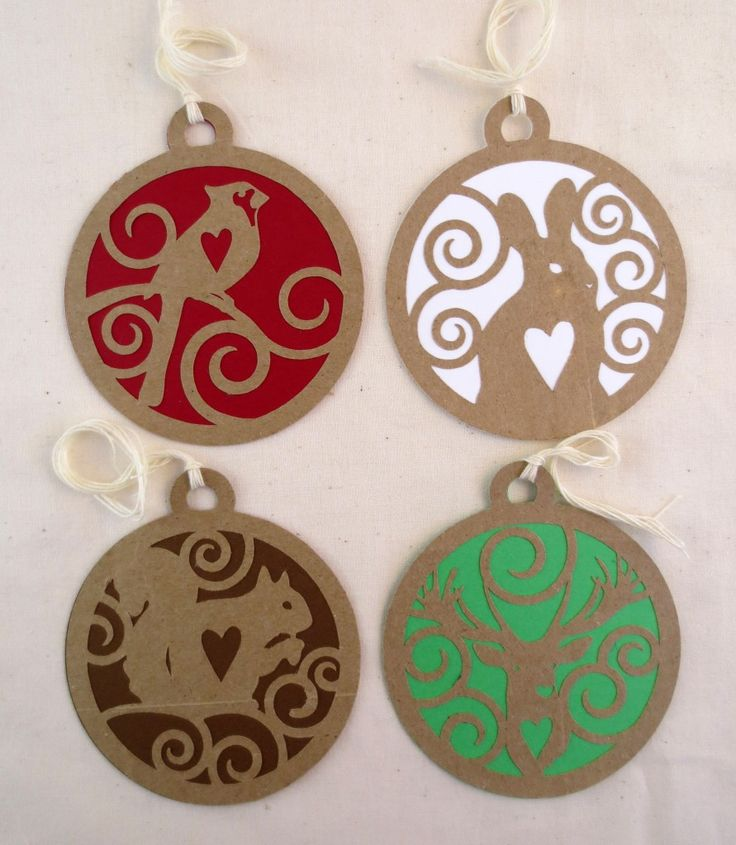 Christmas Gift Tags From Recycled Paper Bags - With Free SVG File - make me