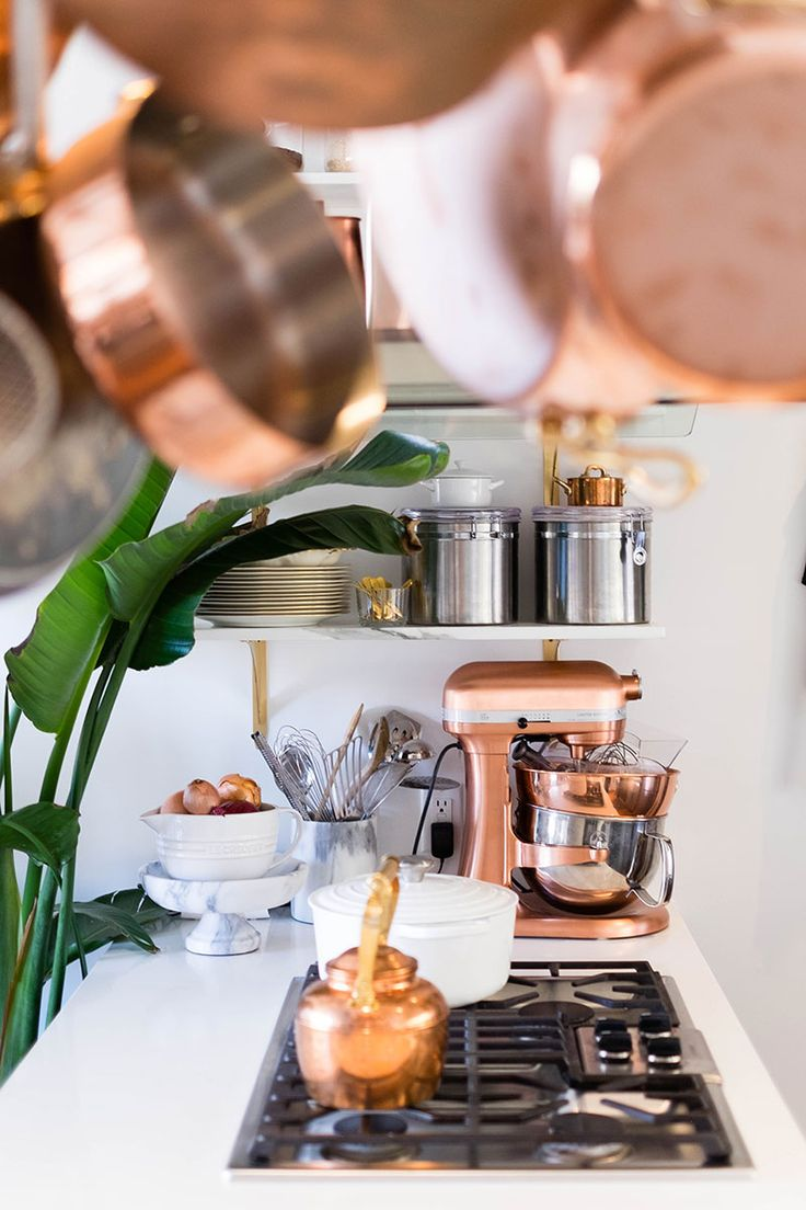 Trend Alert: Incorporate copper as the metal of choice throughout your home. The kitchen is a natural space to play up this warm metallic accent.