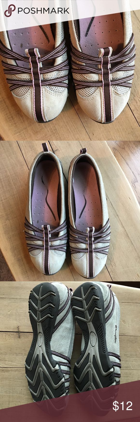 Slip on tennis shoes! So comfortable!  Brown, tan and pink. Champion Shoes Athletic Shoes