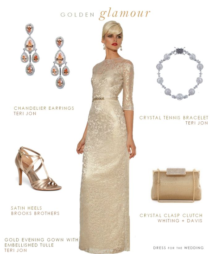Gold Evening Gown For The Mother Of Bride Or Groom