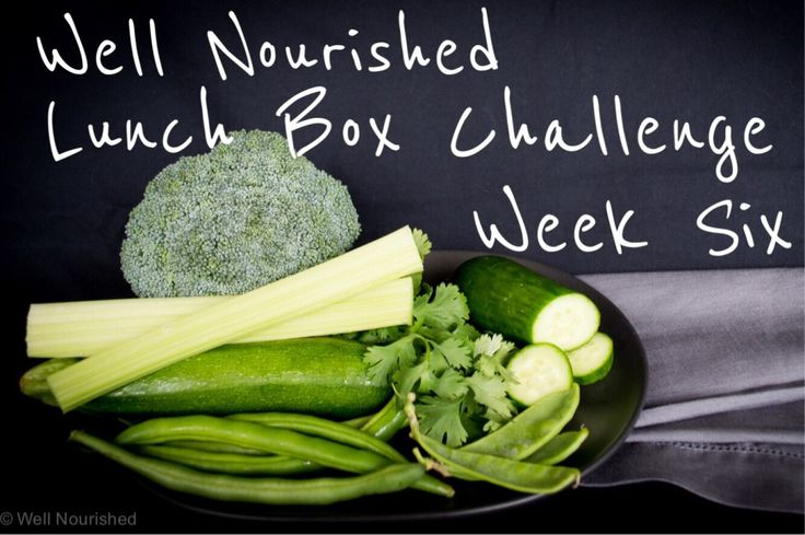 Well Nourished Lunch Box Challenge - Week Six. This week it's time to include green veggies in the lunch box. Again I share lots of choices, tips & recipes.