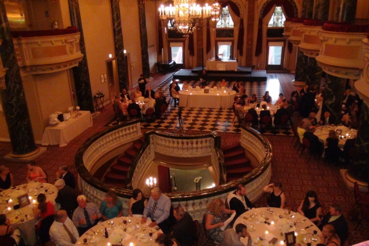 Savor the opulent splendor of the ballroom at the School of the Art Institute of Chicago. There's no need to recreate an atmosphere of 1920's Chicago; it's already here! http://www.discjockey.org/