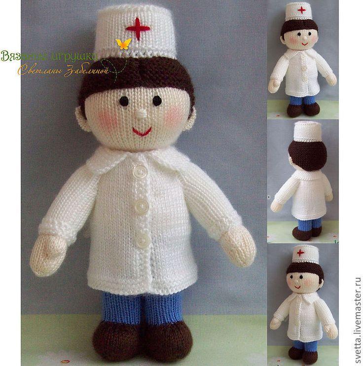 """Купить """"Доктор"""" вязаная кукла - доктор, врач, вязаная кукла, подарок, медицинский работник, медик"""