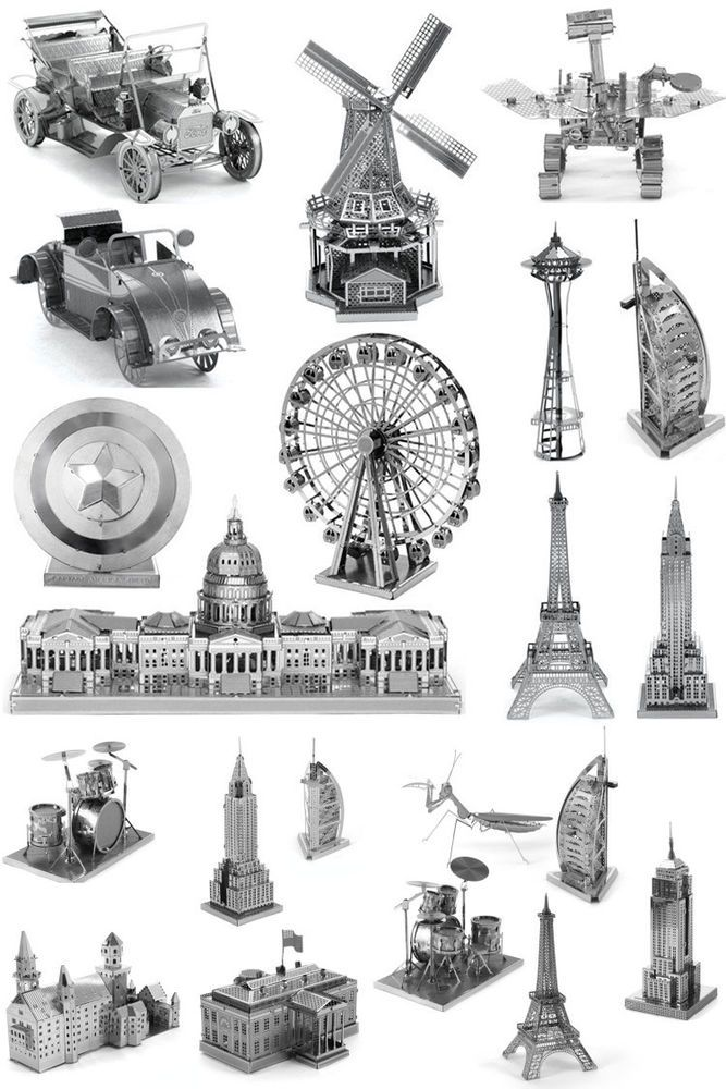 3D Jigsaw Puzzles Metal Model Kits Crafts Art Christmas Toy DIY Gift A99 #Unbranded