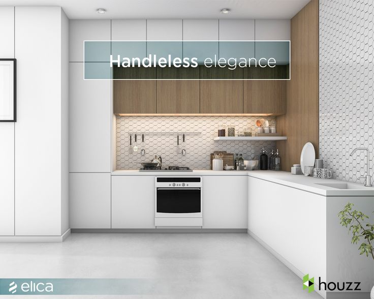 Gain a sleek and flexible look with handleless units in your kitchen this tip is
