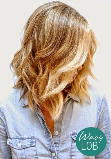 The Wavy Lob | Summer Haircuts + Hairstyles | Wavy Bobs #longbobs
