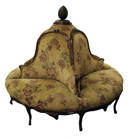 Captivating Rare Round Hotel French Couch