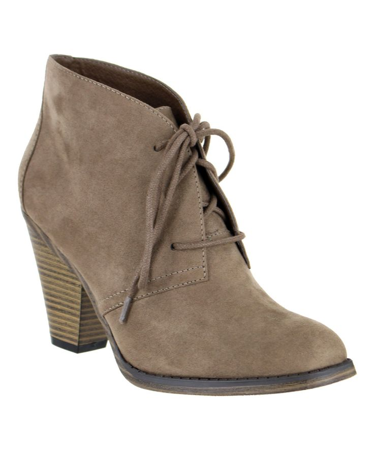 Take a look at this MIA Shoes Taupe Shawna Bootie today!