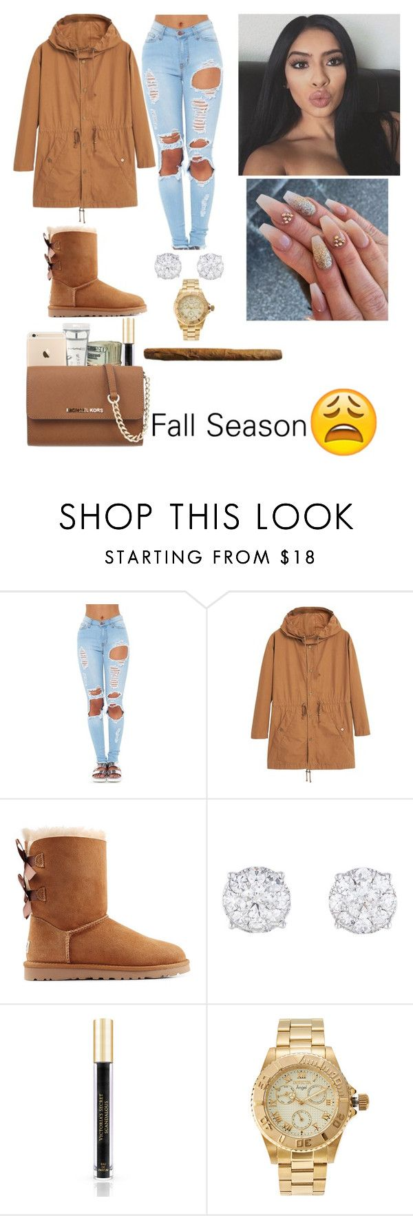 """""""."""" by kayydashiann ❤ liked on Polyvore featuring MANGO, UGG Australia, M.A.C, Victoria's Secret, Invicta and MICHAEL Michael Kors"""