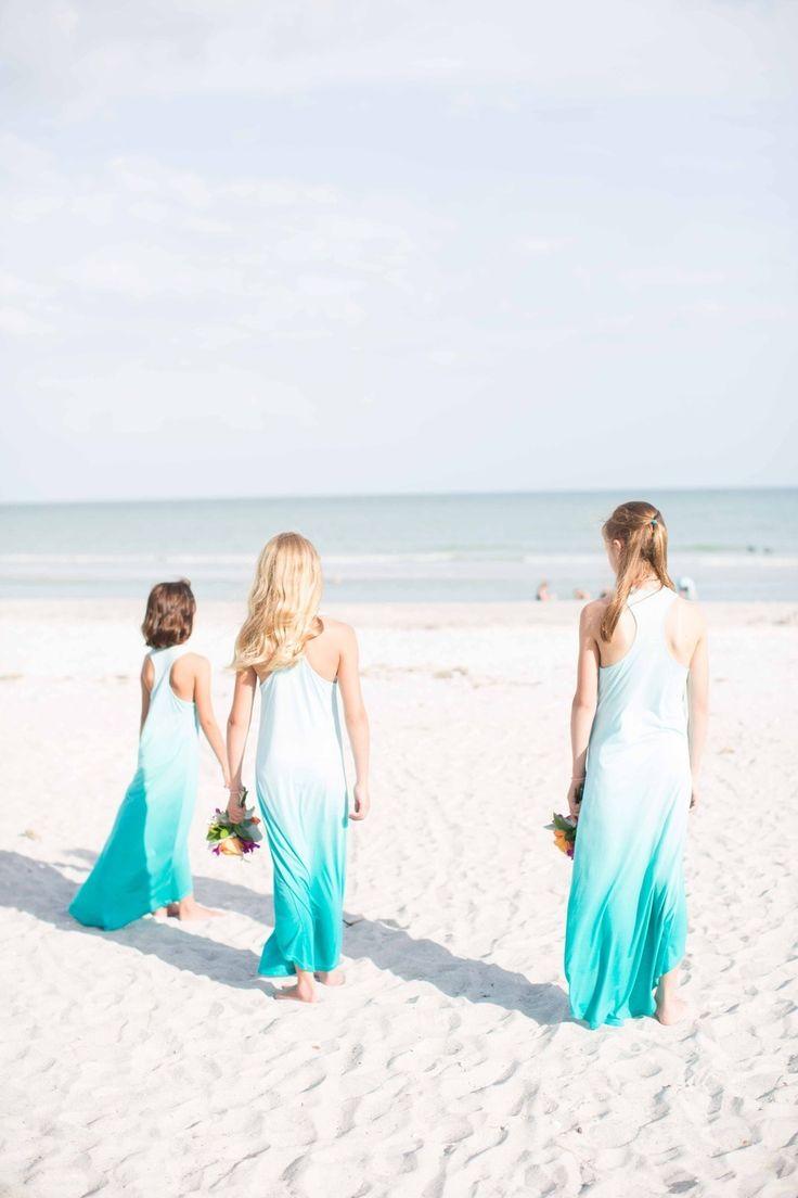 Beach wedding dresses for bridesmaids stunning bridesmaids in amazing sanibel island florida wedding from laura elizabeth photography beach bridesmaid with beach wedding dresses for bridesmaids ombrellifo Images