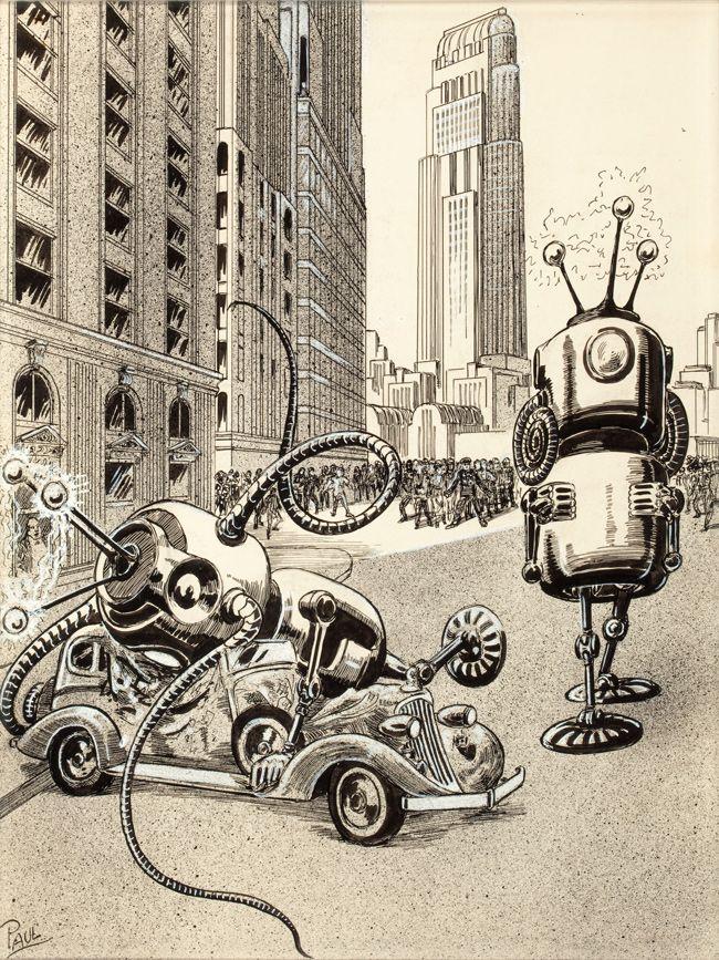 Рисунки из фантастических журналов