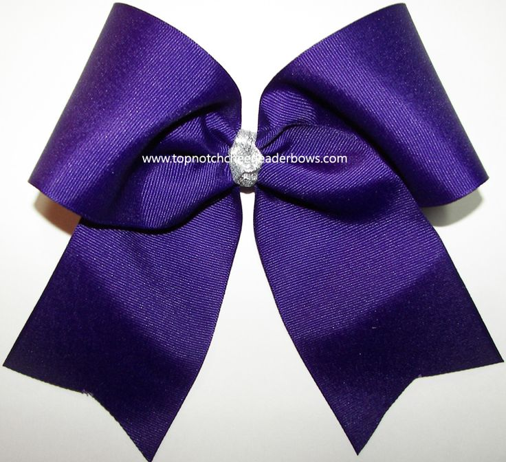 Purple Cheer Bow, Purple 7 Inch Cheer Bow, Purple Cheerleader Bow, Big Purple Cheer Bow, Purple Softball Hair Bow, Purple Volleyball Bow