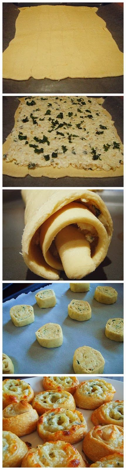Easy Three Cheese Pinwheel Appetizers recipe