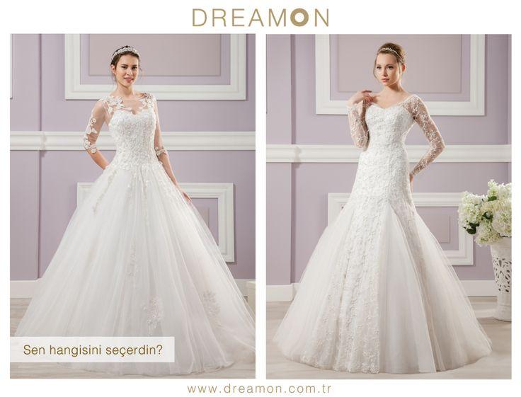 """Dreamon'un birbirinden özel modellerinden """"Sen Hangisini Seçerdin?"""" Sapphire ya da Gray  www.dreamon.com.tr  #gelinlik #gelinlikmodelleri #dreamongelinlik #dreamon #gelinlikler #geceelbisesi #abiyeelbise #sapphire #gray"""