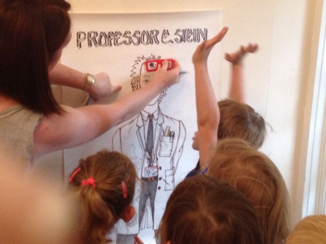 Pin the Glasses on the Professor (inc the glasses) A family party game I did some artwork for