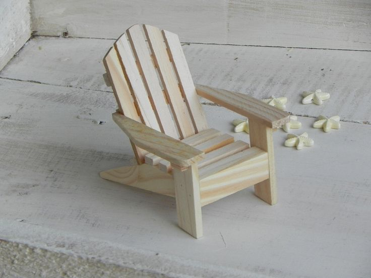 Adirondack Chair miniature ready to paint wood supplies for craft project beach wedding cake topper starfish beads embellishments supply by TheLittleHedgerow on Etsy https://www.etsy.com/listing/229252037/adirondack-chair-miniature-ready-to