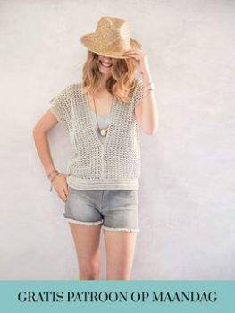 Een gratis Nederlands haakpatroon van een leuke dames shirt voor de zomer. Wil jij dit mooie katoenen shirt ook haken? Lees dan snel verder over het patroon