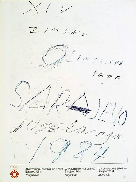 Cy Twombly - Sarajevo 1984 Winter Olympics | 1stdibs.com