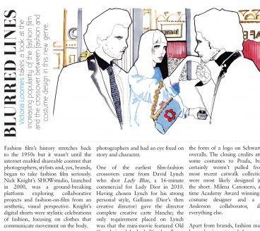 Magazine illustration work for Guise fashion magazine.