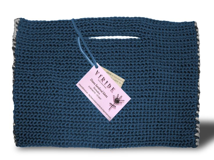 Bolso tejido a mano técnica crochet!