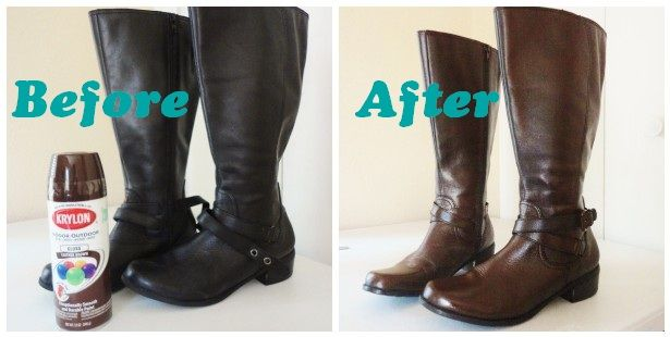 I need a pair of gray boots.... hmmmm: The Lovely Side: DIY: Spray Painting Leather Boots