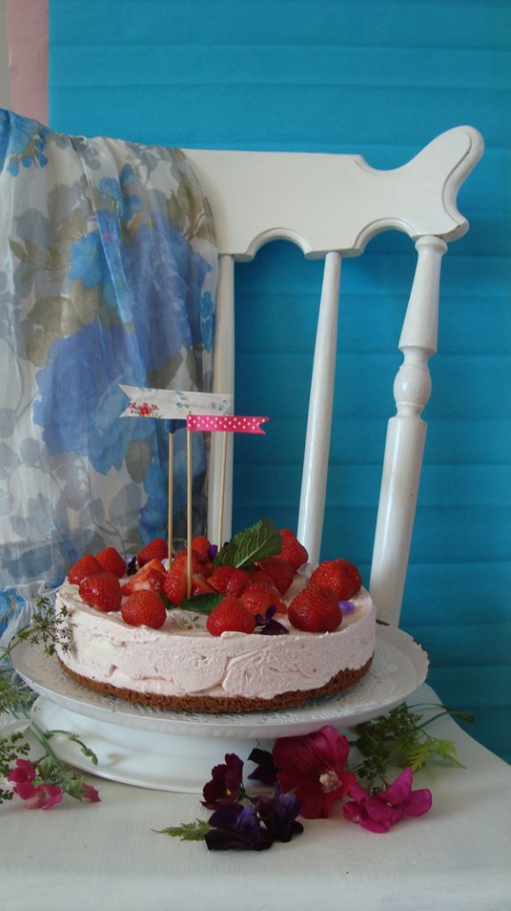 no bake strawberry cheesecake ♥