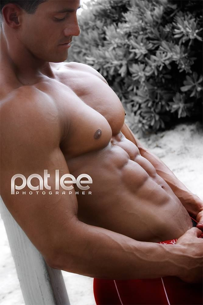 ANTHONY VILLACCI male fitness model © PAT LEE patlee.net # pecs six pack abs bare chest hunk hot guy nice arms musculoso men shirtless eye candy adonis torso
