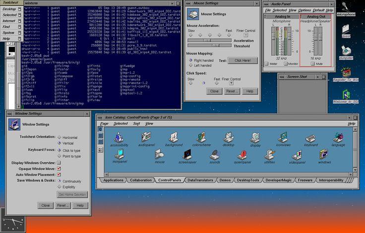 Irix desktop
