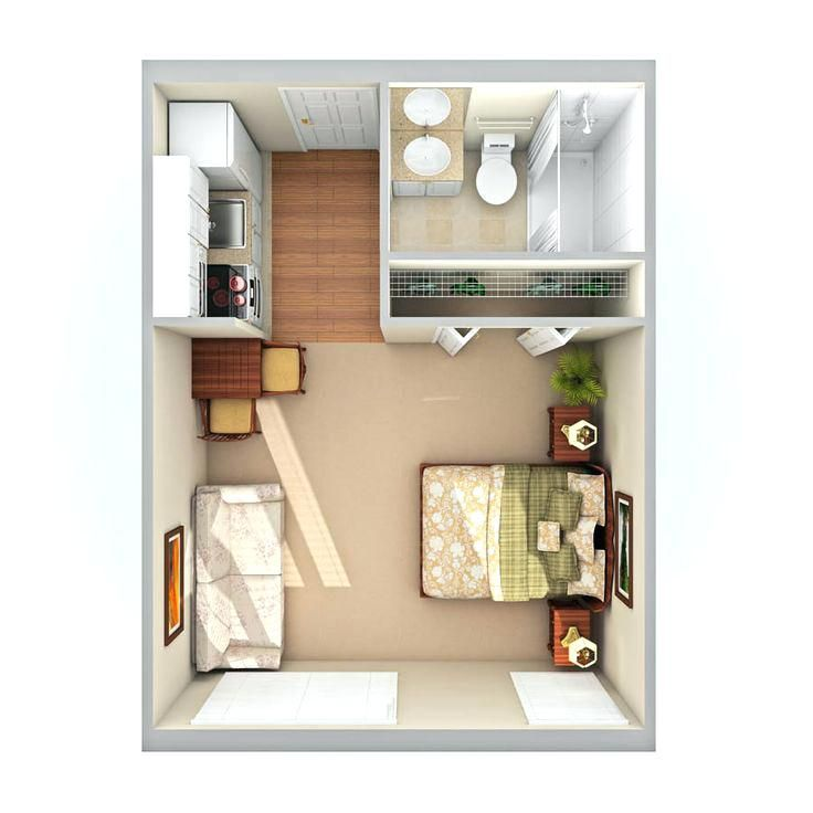 Image Result For Small Studio Apartment Ideas Small Studio Apartments Studio Apartment Layout Apartment Layout