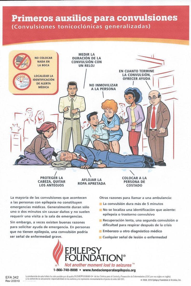 Infografía sobre primeros auxilios para convulsiones de la Epilepsy Foundation
