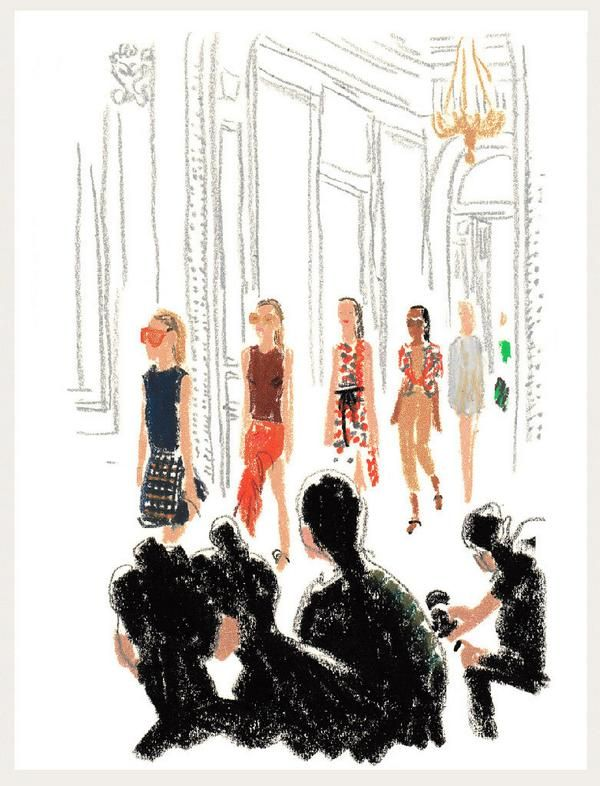 An illustrated look at Paris Fashion Week courtesy of Damien Florébert Cuypers