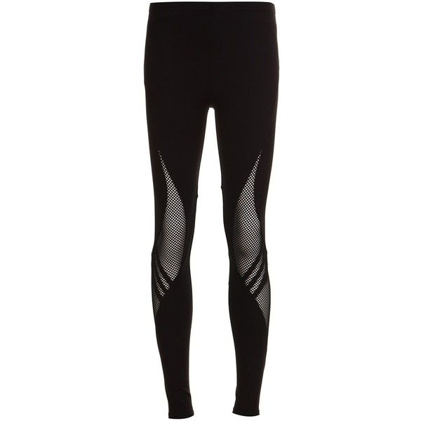 y3 Leggings With Transparent Details (€200) ❤ liked on Polyvore featuring pants, leggings, black, see through legging, sheer pants, transparent leggings, see through pants and legging pants