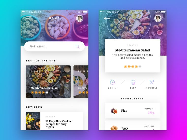 """Check out this @Behance project: """"Recipe App - Concept"""" https://www.behance.net/gallery/47850455/Recipe-App-Concept"""