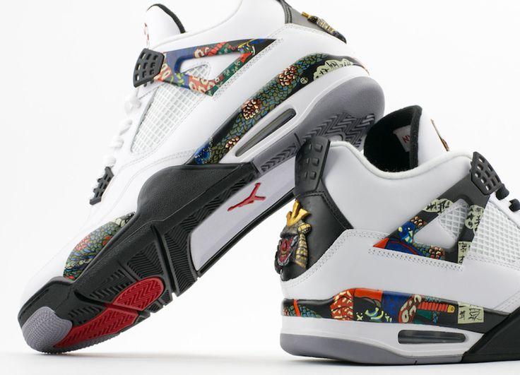 Air Jordan IV Samurai Customs by El Cappy