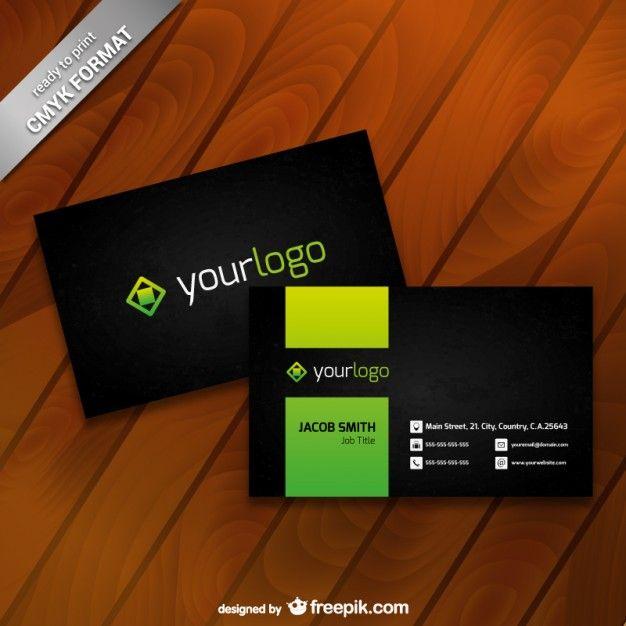 33 best card design images on pinterest carte de visite business business card template with logo colourmoves