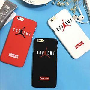 ストリート系ブランドSUPREME x NIKE JORDAN 5コラボiphone7 iphone7plusケース カッコイイiphone8ケース ペア カップル向け シュプリーム エアジョーダン5 iphone6s plusハードケース