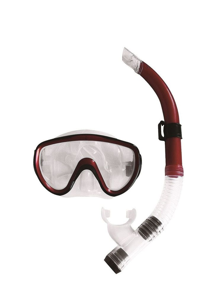 Burgundy-Red Black and Clear Zray Teen/Young Adult Scuba Mask and Snorkel Dive Set http://www.deepbluediving.org/mares-puck-pro-vs-mares-puck/