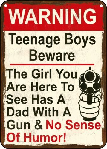 Warning Here to See My Daughter Gun Sign No Sense Polystyrene Sign Man Cave   eBay