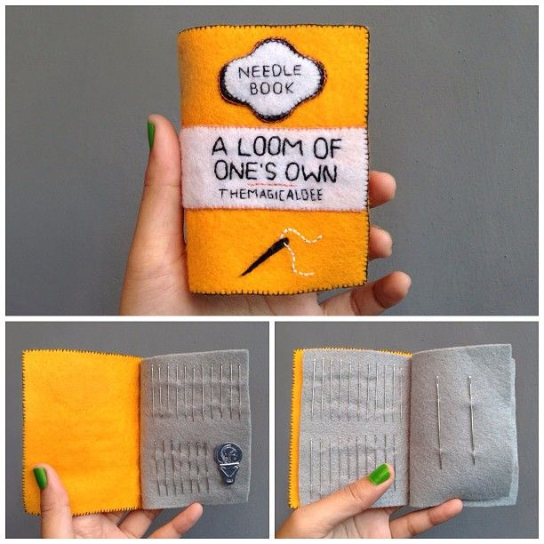 A new home for my needles! Hand sewn by me. Inspired from the famous Penguin Book