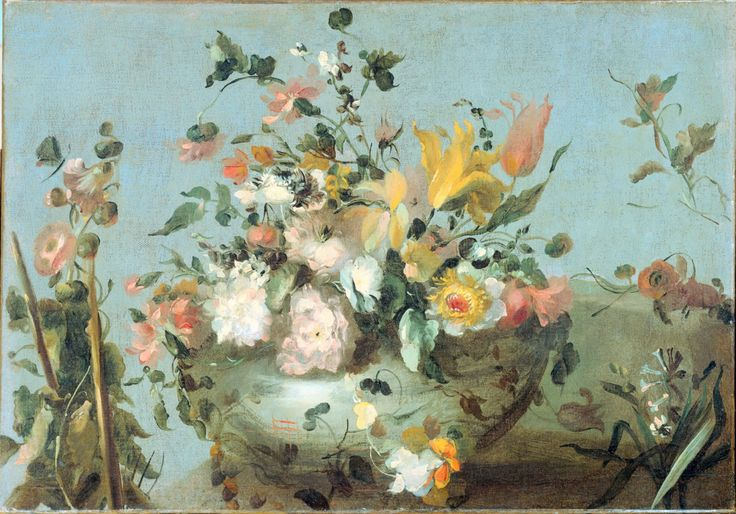 Still Life with Flowers, Francesco Guardi (1712-ca.1793, Italian , Oil on canvas, Rijksmuseum, Amsterdam )