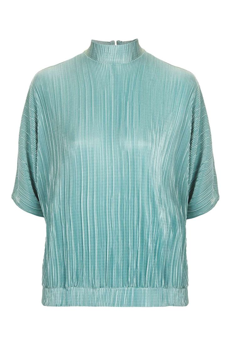 Plisse Batwing Splitback Top - Tops - Clothing - Topshop