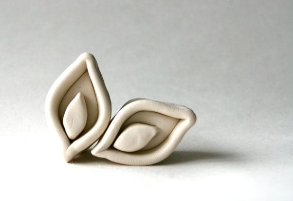 Clay Stamp -- Calla Lily Design Inspired by Moroccan Tiles -- Pattern or Texture for Pottery and Ceramics