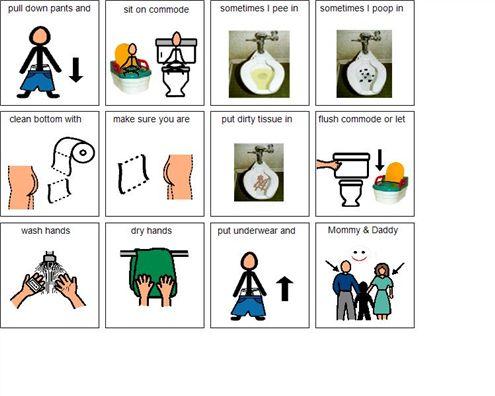 Boardmaker Achieve: Toileting Visual | For da kids | Pinterest