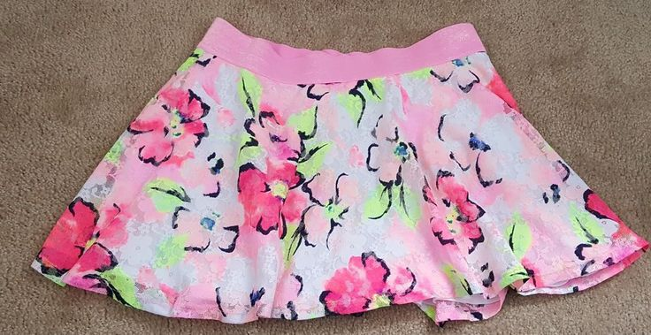 Girls Justice floral skirt size 16 built-in shorts neon pink green  | Clothing, Shoes & Accessories, Kids' Clothing, Shoes & Accs, Girls' Clothing (Sizes 4 & Up) | eBay!