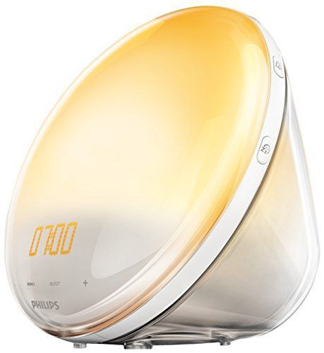 Philips Eveil Lumière – HF3531/01 – Radio réveil lumineux avec fonction veilleuse et guide de nuit et port USB: Réveillez-vous grâce à la…