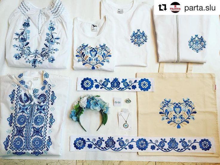Moderné tradičné #praveslovenske od  @parta.slu .....  Dnes do modra  stále máme v ponuke vyšívané dámske a pánske tričká mikiny tašky. Ak niekoho omrzeli už tričká máme krásne dámske ručne vyšívané blúzky a k tomu sa može doladiť partnerovi ručne vyšívaná košela z regiónu Detva vyšitá krivou ihlou. Taktiež sú v ponuke vyšívané opasky a set bižutérie ladený do modra. Všetko môžte objednať na našom eshope na atránke www.parta.sk okrem košele tá sa dá vyrobiť na mieru. #slovak #slovakia…
