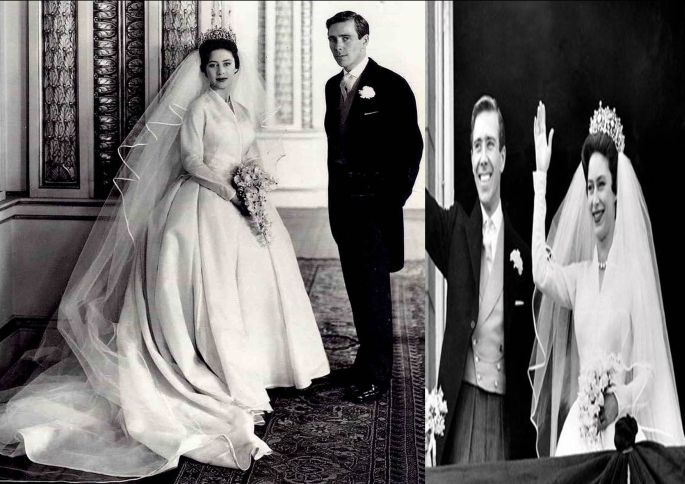 La principessa Margaret e Antony Armstrong Jones, nel 1960