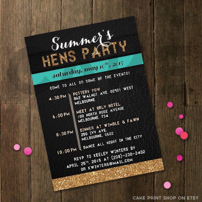 Best 25 Hens night invitations ideas – Hen Party Invitation